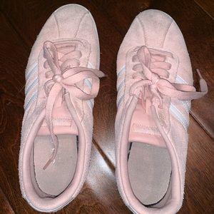 Pink adidas gazelles